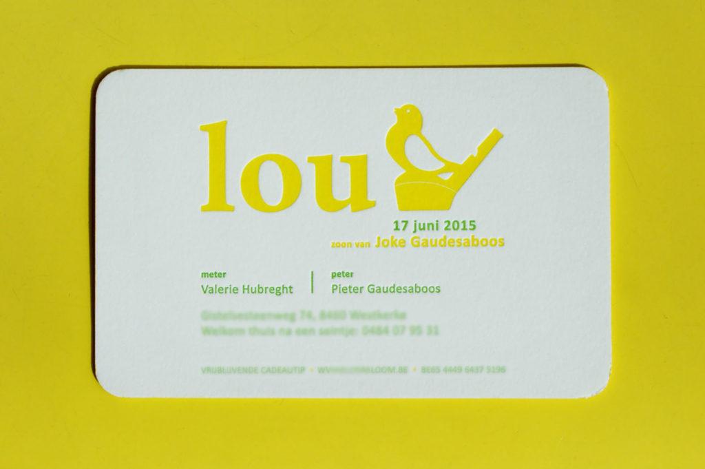 geboortekaartje Lou
