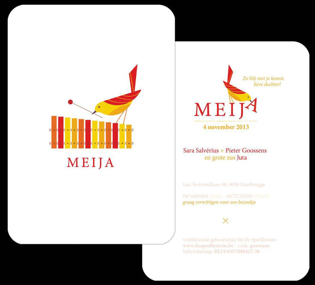 geboortekaart Meija