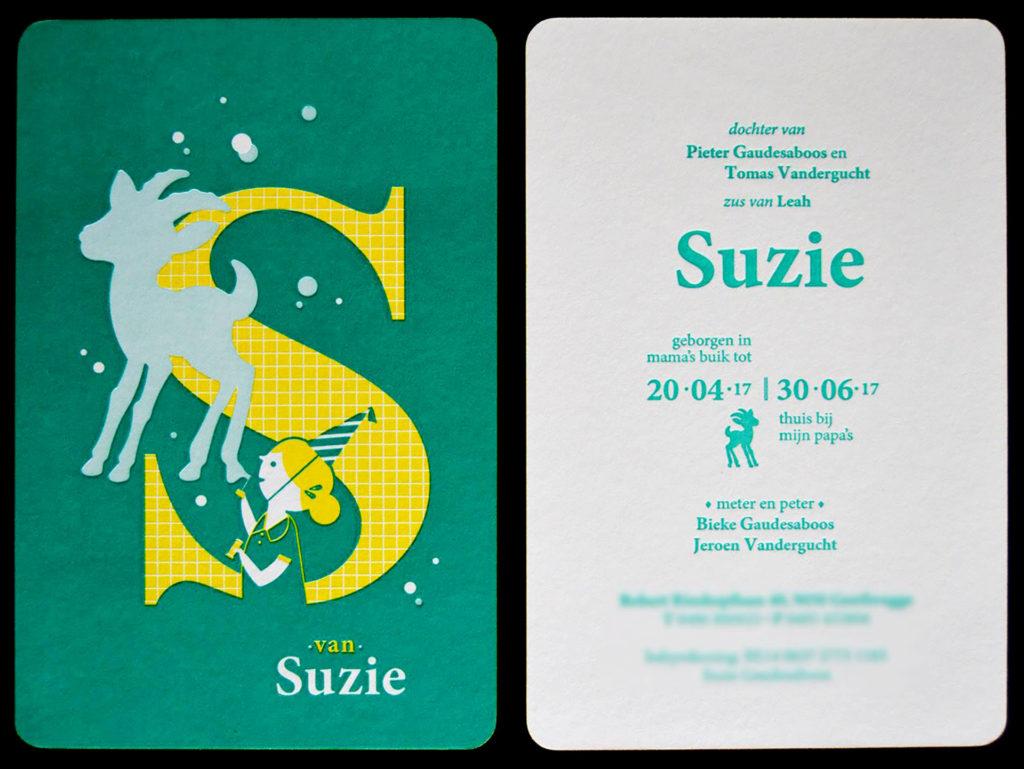 geboortekaartje Suzie