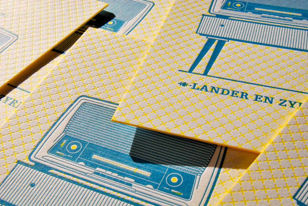 trouwkaart Lander en Zyrine
