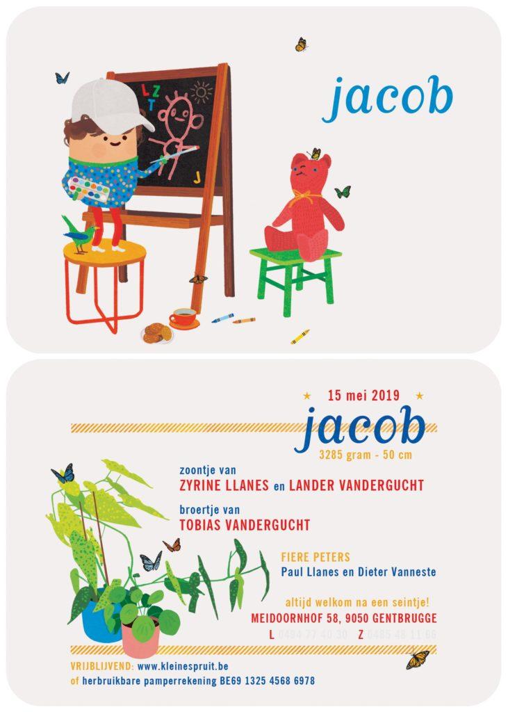 geboortekaart Jacob