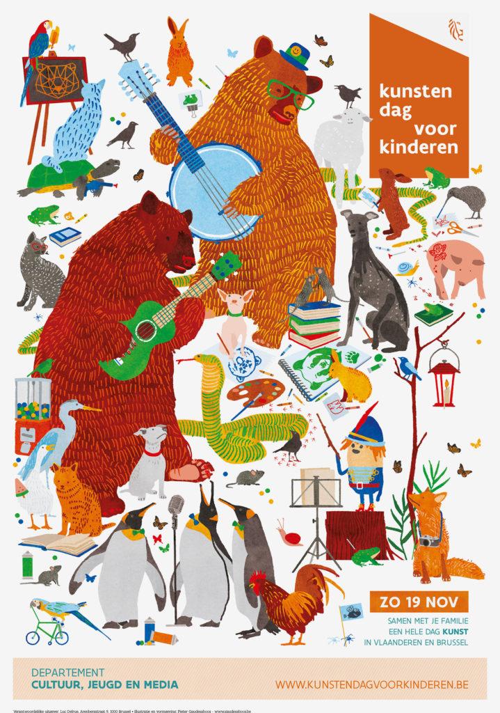 affiche Kunstendag Voor Kinderen