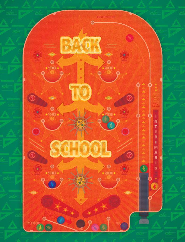 illustratie 'back to school' voor Klasse